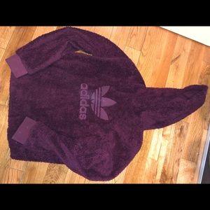 adidas Sweaters - Adidas Fur hoodie